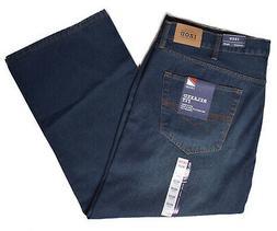 Izod Men's Big & Tall Relaxed Straight Fit Blue Denim Jeans