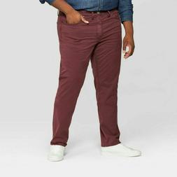 Men's Big & Tall Slim Straight Chino Pants Garnet Rose Jeans