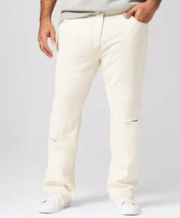 Men's Big & Tall Straight Fit Jeans - Goodfellow & Co Off-Wh