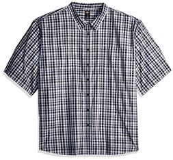 Dickies Men's Big and Tall Yarn Dyed Plaid Short Sleeve Shir