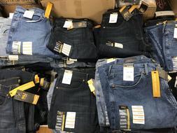 Lee Men's Blue Jeans Premium Select Reg Fit Straight Leg 32,