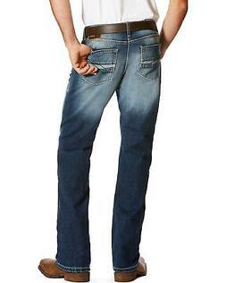 Ariat Men's Blue M5 Slim Fit Jeans - Straight Leg  - 1002431