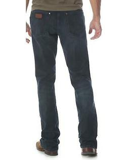 Wrangler Men's Blue Retro Relaxed Fit Stretch Bootcut Jeans