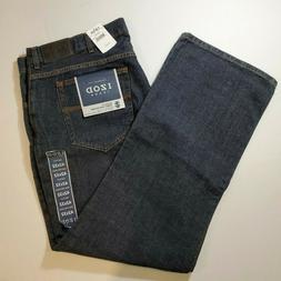 Izod Men's Boot Cut Full Leg Medium Rise Denim Jeans Dark Bl