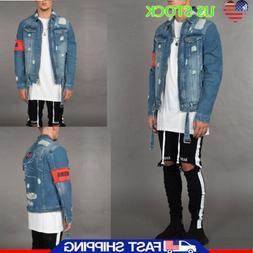 Men's Boyfriend Jeans Denim Jean Vest Distressed Causal Jack