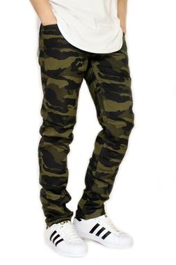 MEN'S CAMO TWILL STRETCH SKINNY JEANS *3 COLORS VICTORIOUS