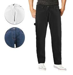 Men's Carpenter Work Jeans Hammer Loop Relaxed Fit Casual Co