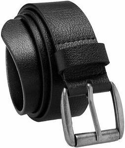Men's Casual Belt Super Soft Full Grain Leather Roller Buckl