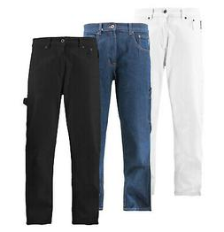 Men's Casual Cotton Denim Jeans Hammer Loop Relaxed Fit Carp