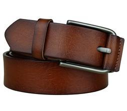 Bullko Men's Casual Genuine Leather Dress Belt For Jeans 1 1