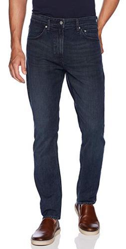 Calvin Klein Men's CKJ 056 Athletic Taper Fit Jean Dark Blue