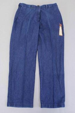 Haggar Men's Classic Fit Flat Front Jeans AB3 Blue Size 36 X