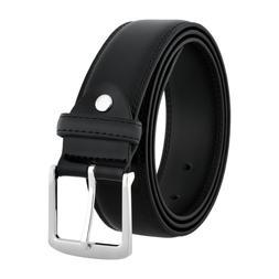 Men's Classic Jeans Dress Black Leather Belt, All Sizes, Big