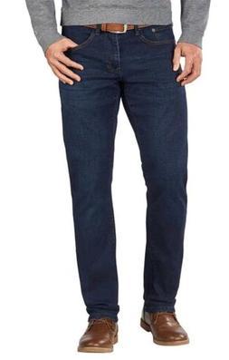 IZOD Men's Comfort Stretch Slim Fit Straight Leg Jeans. Dark