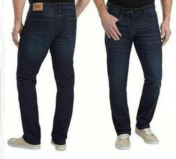 Izod Men's Comfort Stretch Straight Fit Jeans Pants Dark Was