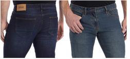 IZOD Men's Comfort Stretch Straight Leg Jean-Size & Color Va