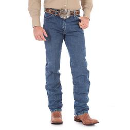 WRANGLER Men's Cowboy Cut Original Fit Stonewashed Denim Blu