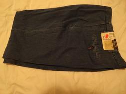 Haggar Men's Denim Blue Jeans Classic American Fit Flat Ston