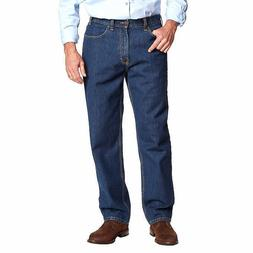 Kirkland Signature Men Jeans Mens Relaxed Fit Cotton Dark Bl