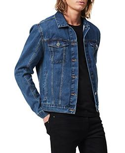 Calvin Klein Men's Denim Trucket Jacket, Medium, Large