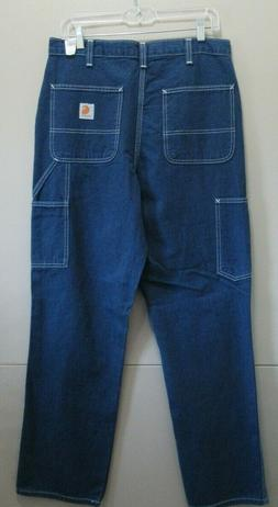 MEN'S CARHARTT DUNGAREE FIT JEANS SIZE 30 X 32  NEW!