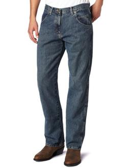 Wrangler Men's Big Rugged Wear Relaxed Straight Fit, Mediter