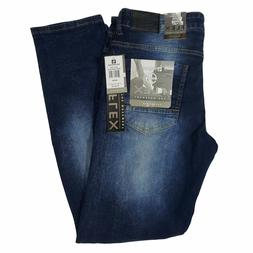 SOUTHPOLE MEN'S FLEX RIPPED DARK SAND BLUE DENIM JEANS SKINN