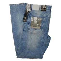 SOUTHPOLE MEN'S FLEX RIPPED LIGHT SAND BLUE DENIM JEANS SKIN