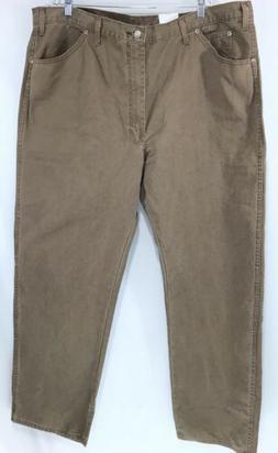 Men's Genuine Dickies Brown Work Cotton Jeans 44x32 NWT