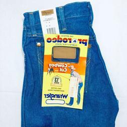 Men's Wrangler Jeans Cowboy Cut 13MWZ Original Fit Rigid Blu