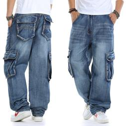 Men's Jeans Relaxed Fit Big & Tall Loose Carpenter Cargo Pan