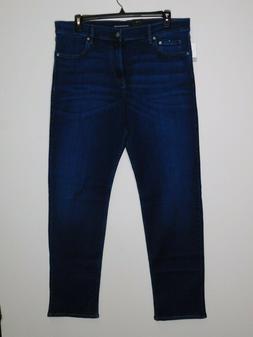 Calvin Klein Men's Jeans Straight Leg Stretch, Aude Blue, Je