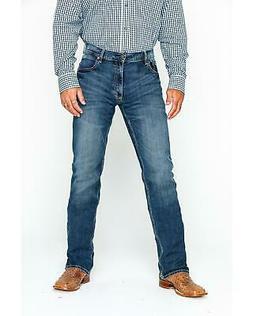 Wrangler Men's Layton Retro Slim Fit Boot Cut Jeans - WLT77L