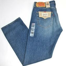 Men's Levi's 501 Medium Faded Blue Marrs Straight Leg Button