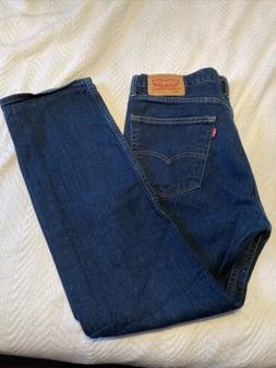 Men's Levi's 505 Red Tab Size 36x32 Dark Denim Blue Jeans