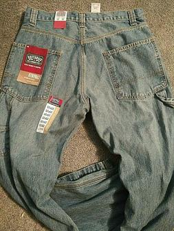 Men's Levi's Signature Carpenter Medium Wash Blue Jeans Size