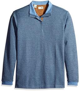 Haggar Men's Long Sleeve Houndstooth Quarter Zip Knit with F