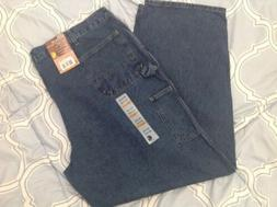 Men's CARHARTT Loose Original Fit Work Dungaree Blue Jeans 4