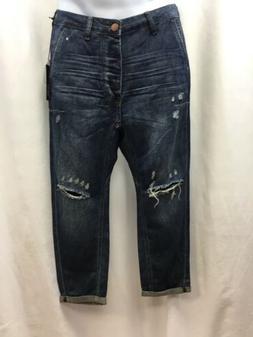 One Teaspoon Men's Mr Browns Distressed Jeans Indigo SIZE 30