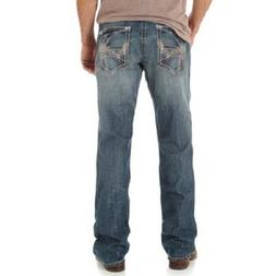 Men's NWT WRANGLER ROCK 47 Medium Wash Mid Rise Slim Fit Boo