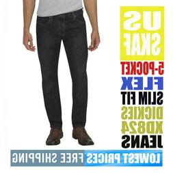 Dickies Men's NWT XD824 Black / Dark SLIM FLEX Tapered Pants