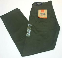 Men's Dockers Olive Green Jean Cut Straight Fit All Seasons