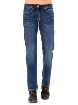 Men's Plus Size Casual Loose Denim Pants Dark Stonewash Stra