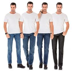 Men's Plus Size Casual Loose Denim Pants Big and Tall Straig