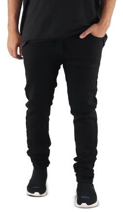 Men's Skinny Jeans BLACK Motorcycle Jeans Skinny Stretch Pan