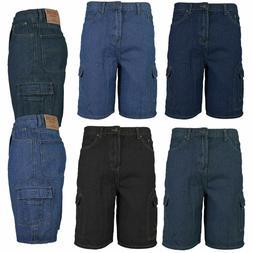 Men's Premium Cotton Multi Pocket Relaxed Fit Stonewash Deni