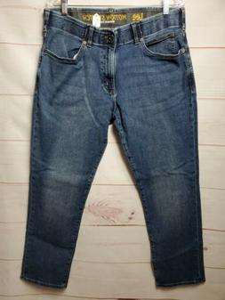 LEE Men's Premium  Fit Straight Leg Motion Stretch Jeans,Dar