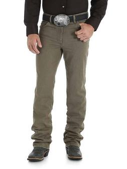 WRANGLER Men's Premium Slim Fit Cowboy Cut Khaki Boot Cut Je