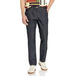 LRG Men's RC True Straight Denim Jeans Raw Indigo Blue Cloth
