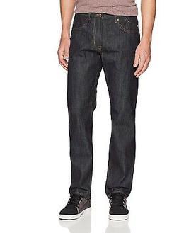 LRG Men's RC True Taper Denim Jeans Raw Indigo Blue Clothing